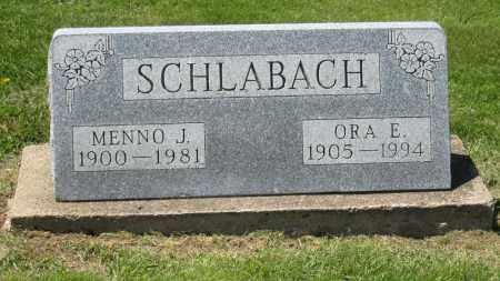 SCHLABACH, MENNO J. - Holmes County, Ohio | MENNO J. SCHLABACH - Ohio Gravestone Photos