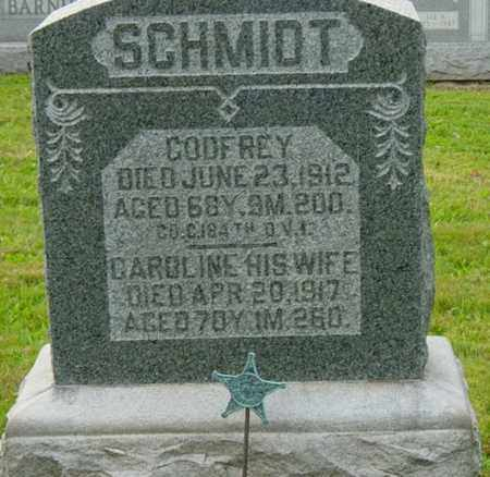 SCHMIDT, GODFREY - Holmes County, Ohio | GODFREY SCHMIDT - Ohio Gravestone Photos