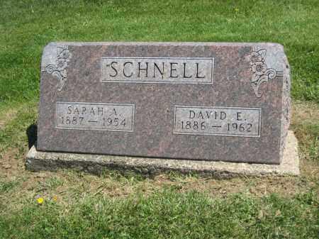 SCHNELL, SARAH A. - Holmes County, Ohio | SARAH A. SCHNELL - Ohio Gravestone Photos