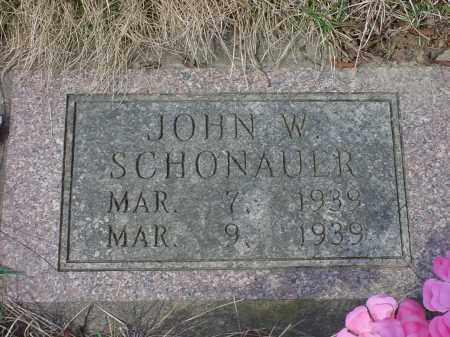 SCHONAUER, JOHN W. - Holmes County, Ohio | JOHN W. SCHONAUER - Ohio Gravestone Photos