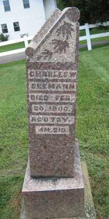 SEEMANN, CHARLES W. - Holmes County, Ohio | CHARLES W. SEEMANN - Ohio Gravestone Photos