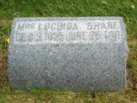 SHANE, MRS. LUCINDA - Holmes County, Ohio | MRS. LUCINDA SHANE - Ohio Gravestone Photos