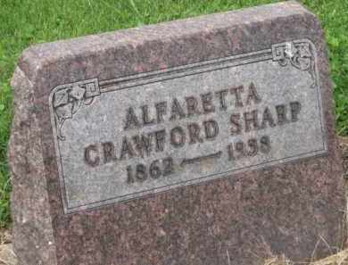SHARP, ALFARETTA - Holmes County, Ohio | ALFARETTA SHARP - Ohio Gravestone Photos