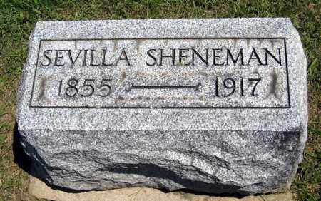 SHENEMAN, SEVILLA - Holmes County, Ohio | SEVILLA SHENEMAN - Ohio Gravestone Photos