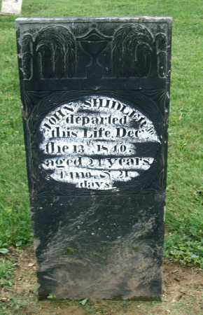 SHIDLER, JOHN - Holmes County, Ohio | JOHN SHIDLER - Ohio Gravestone Photos