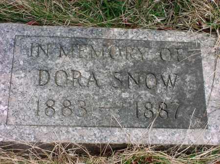 SNOW, DORA - Holmes County, Ohio | DORA SNOW - Ohio Gravestone Photos