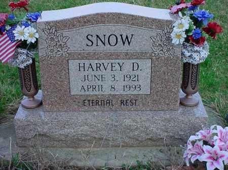 SNOW, HARVEY D. - Holmes County, Ohio | HARVEY D. SNOW - Ohio Gravestone Photos