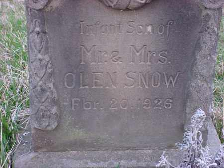 SNOW, INFANT SON - Holmes County, Ohio | INFANT SON SNOW - Ohio Gravestone Photos