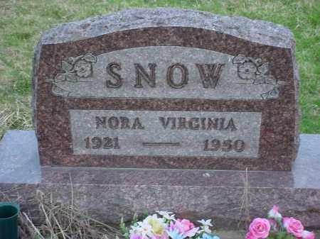 FORTUNE SNOW, NORA VIRGINIA - Holmes County, Ohio | NORA VIRGINIA FORTUNE SNOW - Ohio Gravestone Photos