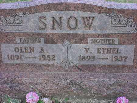 SNOW, V ETHEL - Holmes County, Ohio | V ETHEL SNOW - Ohio Gravestone Photos