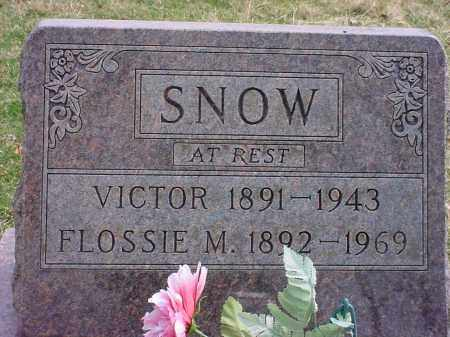 SNOW, FLOSSIE M - Holmes County, Ohio | FLOSSIE M SNOW - Ohio Gravestone Photos