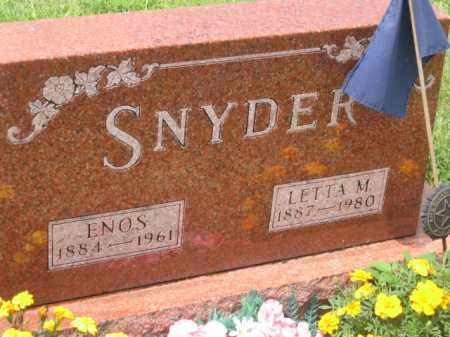 SNYDER, ENOS - Holmes County, Ohio | ENOS SNYDER - Ohio Gravestone Photos