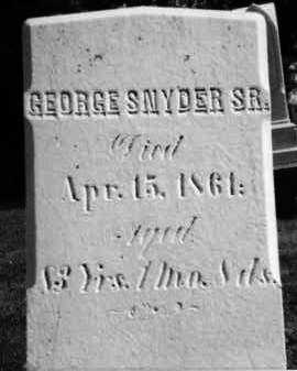 SNYDER, SR., GEORGE - Holmes County, Ohio | GEORGE SNYDER, SR. - Ohio Gravestone Photos