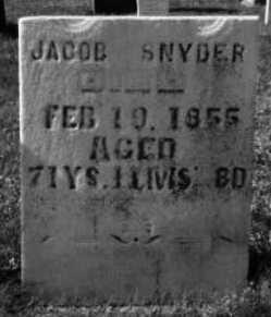 SNYDER, JACOB - Holmes County, Ohio | JACOB SNYDER - Ohio Gravestone Photos