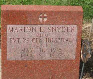 SNYDER, MARRION L. - Holmes County, Ohio | MARRION L. SNYDER - Ohio Gravestone Photos