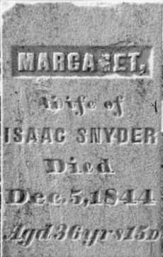SNYDER, MARGARET - Holmes County, Ohio | MARGARET SNYDER - Ohio Gravestone Photos