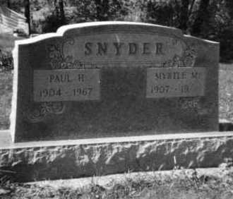 SNYDER, PAUL H - Holmes County, Ohio | PAUL H SNYDER - Ohio Gravestone Photos