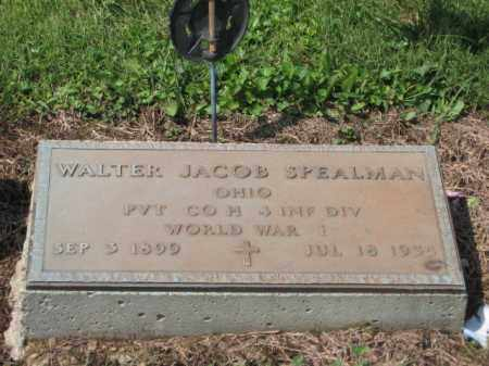SPEALMAN, WALTER JACOB - Holmes County, Ohio | WALTER JACOB SPEALMAN - Ohio Gravestone Photos