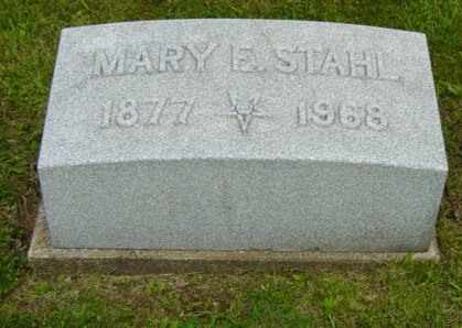 EMIG STAHL, MARY E. - Holmes County, Ohio | MARY E. EMIG STAHL - Ohio Gravestone Photos
