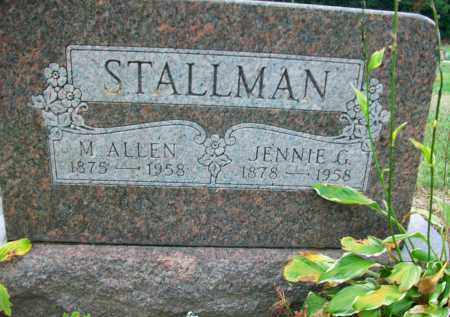 STALLMAN, JENNIE G. - Holmes County, Ohio | JENNIE G. STALLMAN - Ohio Gravestone Photos