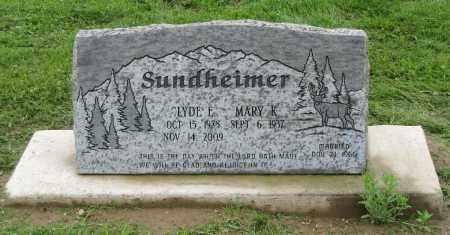SUNDHEIMER, CLYDE E. - Holmes County, Ohio | CLYDE E. SUNDHEIMER - Ohio Gravestone Photos