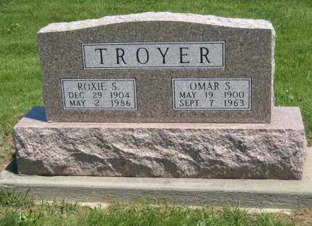 TROYER, ROXIE S - Holmes County, Ohio | ROXIE S TROYER - Ohio Gravestone Photos