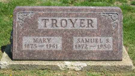 TROYER, MARY - Holmes County, Ohio | MARY TROYER - Ohio Gravestone Photos