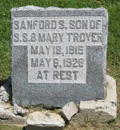 TROYER, SANFORD S - Holmes County, Ohio | SANFORD S TROYER - Ohio Gravestone Photos