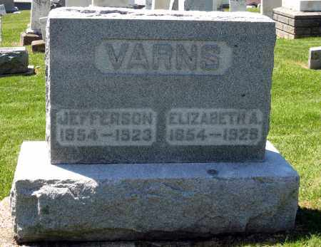 VARNS, JEFFERSON - Holmes County, Ohio | JEFFERSON VARNS - Ohio Gravestone Photos