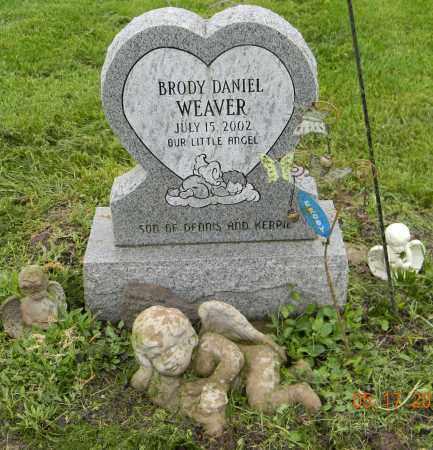 WEAVER, BRODY DANIEL - Holmes County, Ohio | BRODY DANIEL WEAVER - Ohio Gravestone Photos
