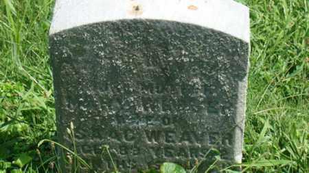 WEAVER, MARY - Holmes County, Ohio | MARY WEAVER - Ohio Gravestone Photos