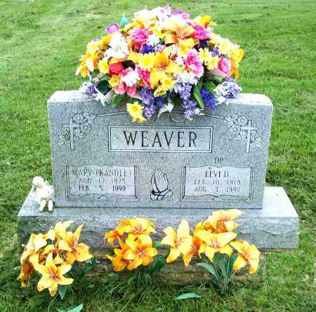 KANDEL WEAVER, MARY - Holmes County, Ohio | MARY KANDEL WEAVER - Ohio Gravestone Photos
