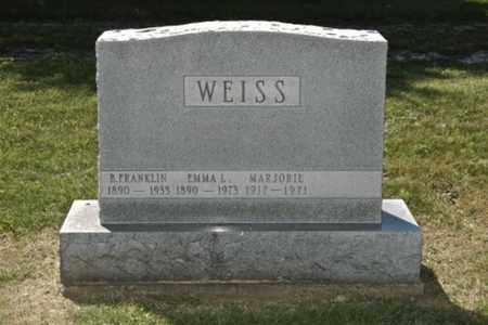 WEISS, EMMA L. - Holmes County, Ohio | EMMA L. WEISS - Ohio Gravestone Photos