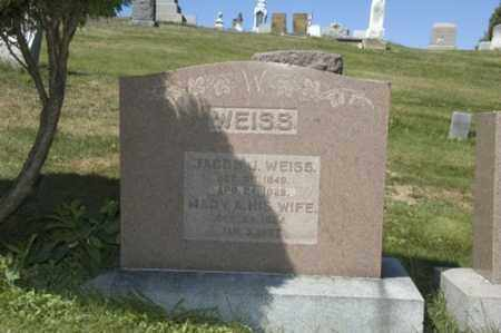 WEISS, JACOB J. - Holmes County, Ohio | JACOB J. WEISS - Ohio Gravestone Photos