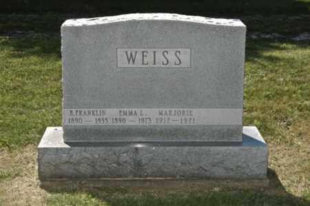 WEISS, MARJORIE - Holmes County, Ohio | MARJORIE WEISS - Ohio Gravestone Photos