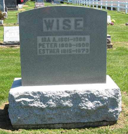 WISE, IRA A. - Holmes County, Ohio | IRA A. WISE - Ohio Gravestone Photos