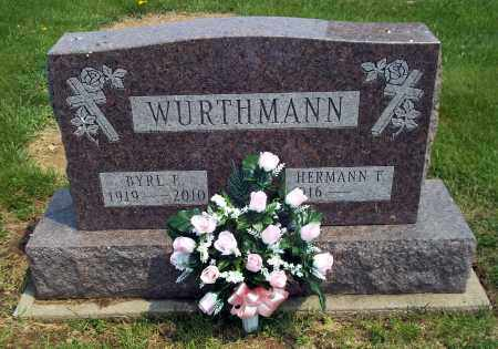 WURTHMANN, HERMANN F - Holmes County, Ohio | HERMANN F WURTHMANN - Ohio Gravestone Photos