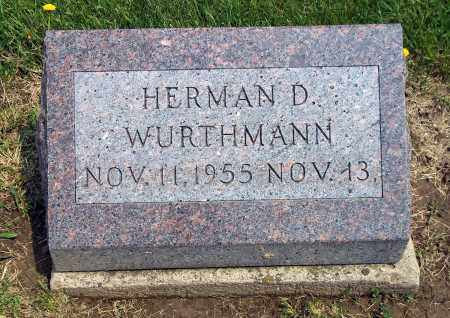 WURTHMANN, HERMAN D - Holmes County, Ohio | HERMAN D WURTHMANN - Ohio Gravestone Photos