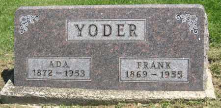 YODER, FRANK - Holmes County, Ohio | FRANK YODER - Ohio Gravestone Photos