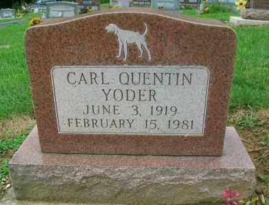 YODER, CARL QUENTIN - Holmes County, Ohio   CARL QUENTIN YODER - Ohio Gravestone Photos