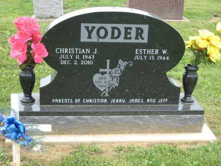 YODER, CHRISTIAN J - Holmes County, Ohio | CHRISTIAN J YODER - Ohio Gravestone Photos