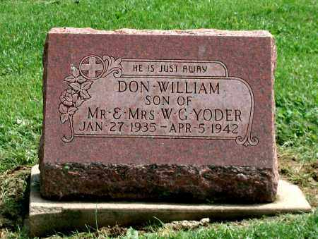 YODER, DON WILLIAM - Holmes County, Ohio | DON WILLIAM YODER - Ohio Gravestone Photos