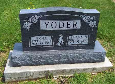 YODER, BENJAMIN - Holmes County, Ohio | BENJAMIN YODER - Ohio Gravestone Photos