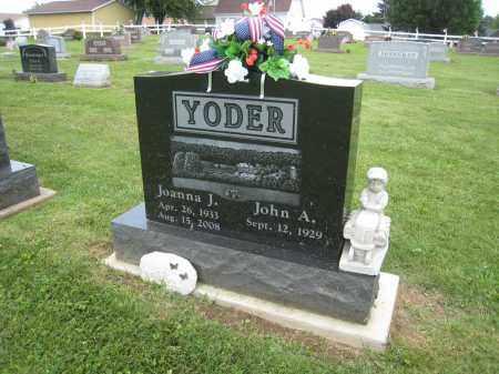 YODER, JOHANNA J - Holmes County, Ohio | JOHANNA J YODER - Ohio Gravestone Photos