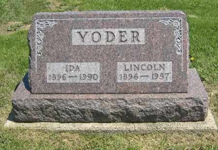 YODER, LINCOLN - Holmes County, Ohio | LINCOLN YODER - Ohio Gravestone Photos