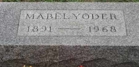 YODER, MABEL - Holmes County, Ohio   MABEL YODER - Ohio Gravestone Photos