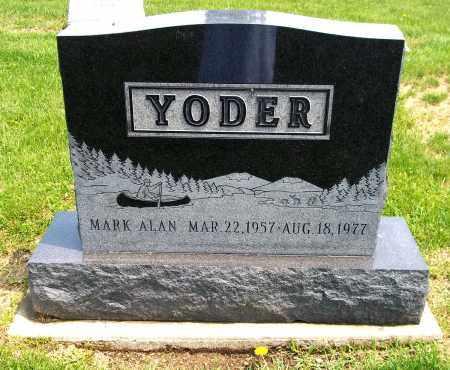 YODER, MARK ALAN - Holmes County, Ohio | MARK ALAN YODER - Ohio Gravestone Photos