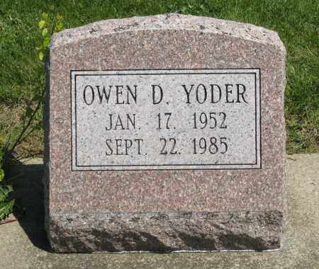 YODER, OWEN D. - Holmes County, Ohio | OWEN D. YODER - Ohio Gravestone Photos
