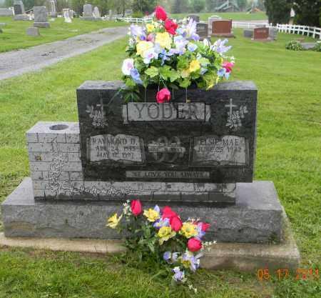 YODER, RAYMOND D. - Holmes County, Ohio | RAYMOND D. YODER - Ohio Gravestone Photos