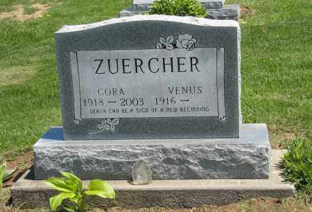 ZUERCHER, CORA - Holmes County, Ohio | CORA ZUERCHER - Ohio Gravestone Photos